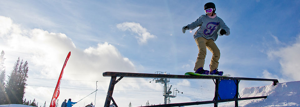 Wintersports insurance for terrain parks